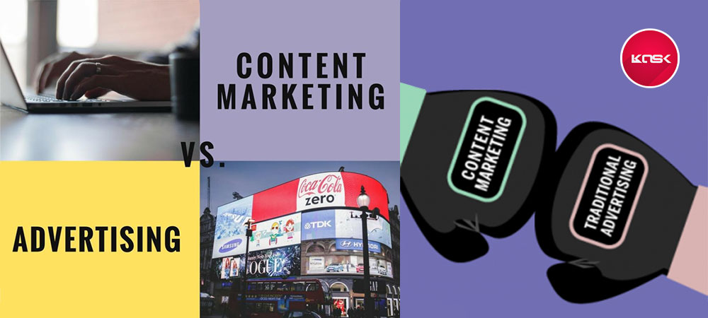 تفاوت تبلیغات با بازاریابی محتوا چیست؟